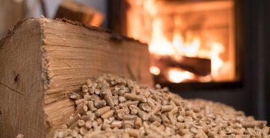 estufa pellets consumo dia